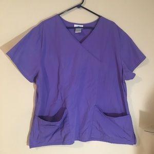 SB Scrubs Solid Purple Scrub Top size 2X